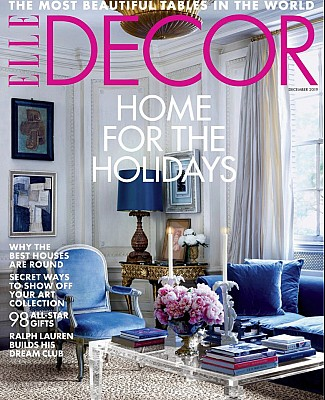 Elle Decor  Cover Round House Taconic Builders