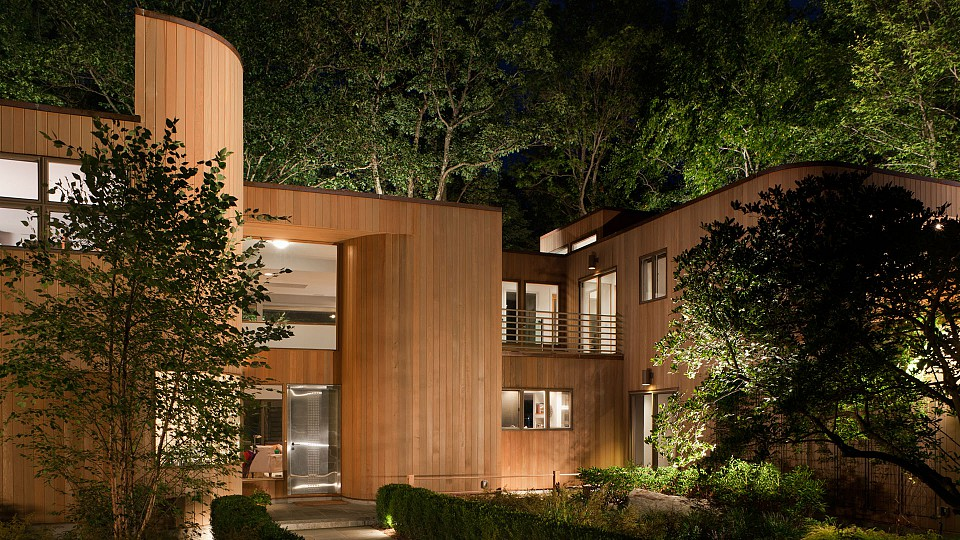Wooded Contemporary House Taconic Builders